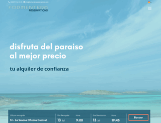 formenterareservations.com screenshot