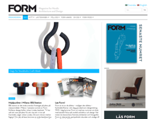 formmagazine.com screenshot