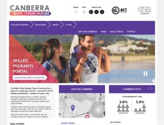 forms.canberrayourfuture.com.au screenshot