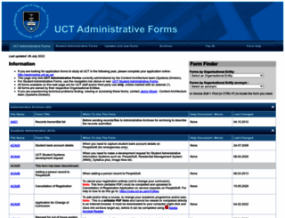 forms.uct.ac.za screenshot