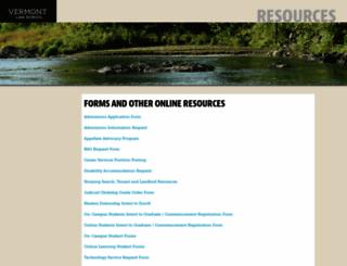 forms.vermontlaw.edu screenshot