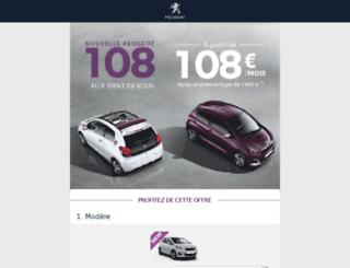 formulaire-peugeot.fr screenshot