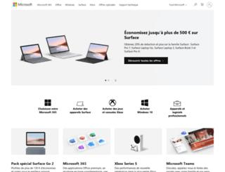 formulaires.microsoft.fr screenshot