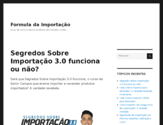 formulaparaimportacao.com screenshot