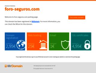 foro-seguros.com screenshot