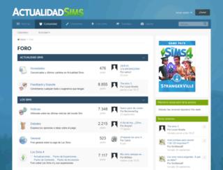 foro.actualidadsims.com screenshot