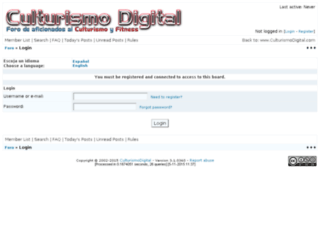 foro.culturismodigital.com screenshot