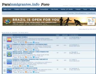 foro.parainmigrantes.info screenshot