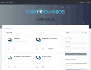 forodominios.net screenshot