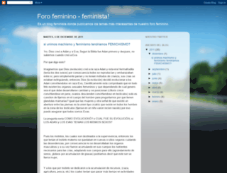 forofeminista.blogspot.com screenshot