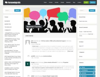 foroswebgratis.com screenshot