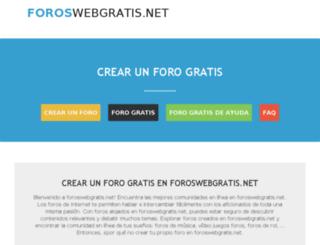 foroswebgratis.net screenshot
