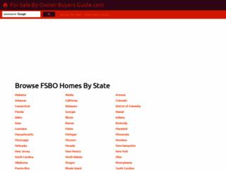 forsalebyownerbuyersguide.com screenshot