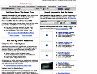 forsalebyownercenter.com screenshot