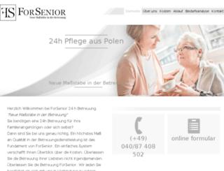 forsenior.de screenshot