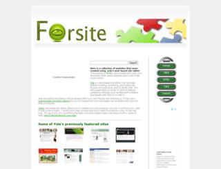 forsite.synthasite.com screenshot