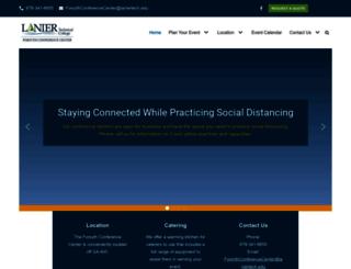 forsythconferencecenter.laniertech.edu screenshot