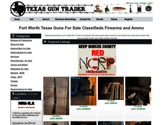 fort-worth.texasguntrader.com screenshot