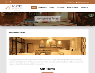 fortelhotels.com screenshot