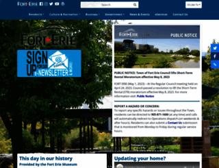 forterie.on.ca screenshot