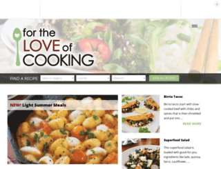 fortheloveofcooking-recipes.blogspot.com screenshot