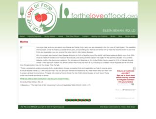 fortheloveoffood.org screenshot