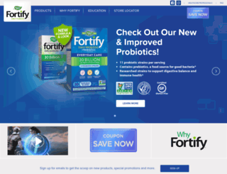fortifyprobiotics.com screenshot