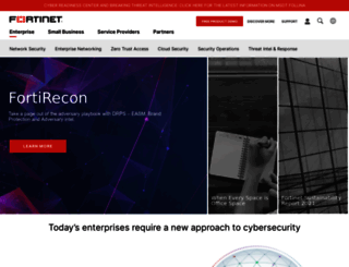 fortinet.net screenshot