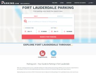 fortlauderdaleparking.spplus.com screenshot