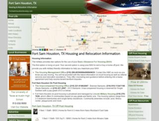 fortsamhoustonhousing.com screenshot