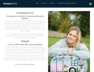 fortunaweb.no screenshot