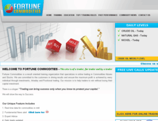 fortunecommodities.com screenshot