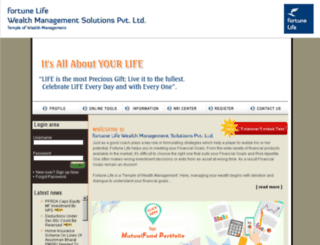 fortunelife.co.in screenshot