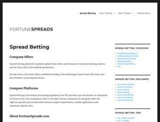 fortunespreads.com screenshot