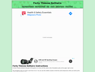 fortythievessolitaire.com screenshot