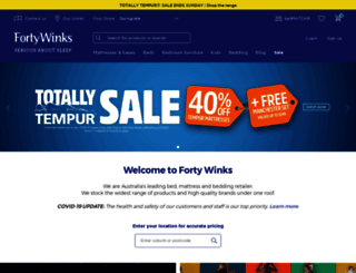 fortywinks.com.au screenshot