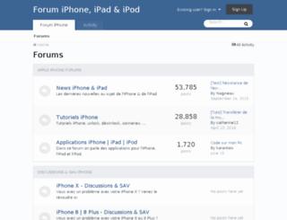 forum-iphone.fr screenshot