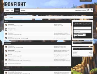 forum-ironfight.fr screenshot