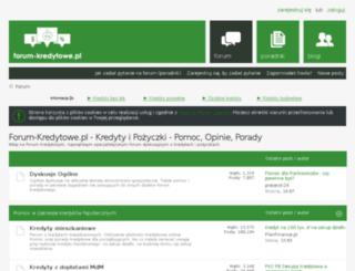 forum-kredytowe.pl screenshot