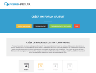 forum-pro.fr screenshot