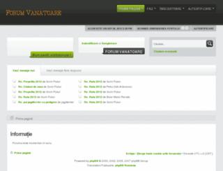 forum-vanatoare.ro screenshot