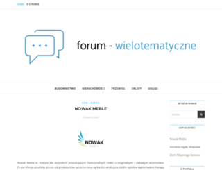 forum-wielotematyczne.pl screenshot
