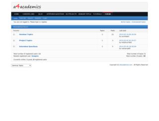 forum.a4academics.com screenshot