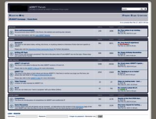forum.adrift.co screenshot