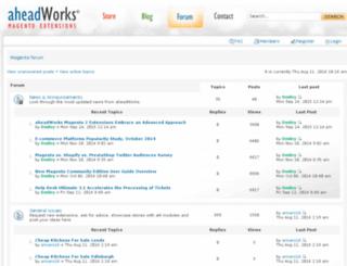 forum.aheadworks.com screenshot