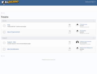 forum.alldebrid.com screenshot