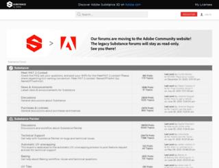 forum.allegorithmic.com screenshot