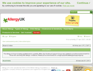 forum.allergyuk.org screenshot