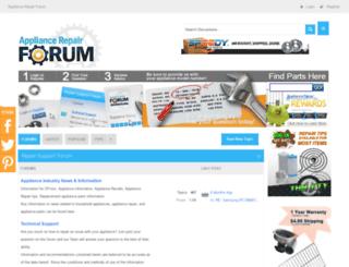forum.appliancezone.com screenshot