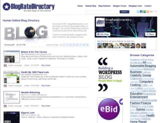 forum.blogratedirectory.com screenshot